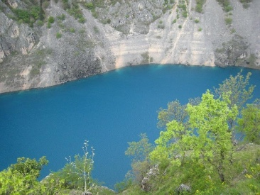 Blue lake Imotski